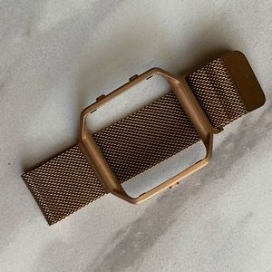 Magnetic rose gold Fitbit blaze women's style band